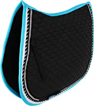 Professional Equine Horse Quilted English Saddle PAD Trail All Purpose Turquoise Black 72F58
