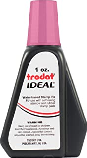 Trodat 52729 Ideal Premium Replacement Ink for Use with Most Self Inking and Rubber Stamp Pads, 1oz, Hot Pink