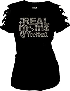 rhinestone football mom t shirts