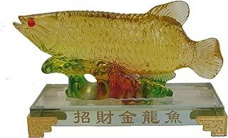 Feng Shui Import Liuli Arowana Fish Statue