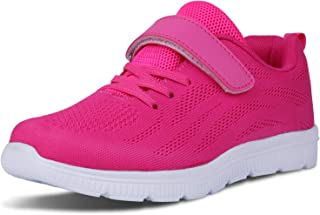 WONZOM FASHION Kid's Casual Lightweight Breathable Running Floral Sneakers Easy Walk Sport Shoes for Boys Girls