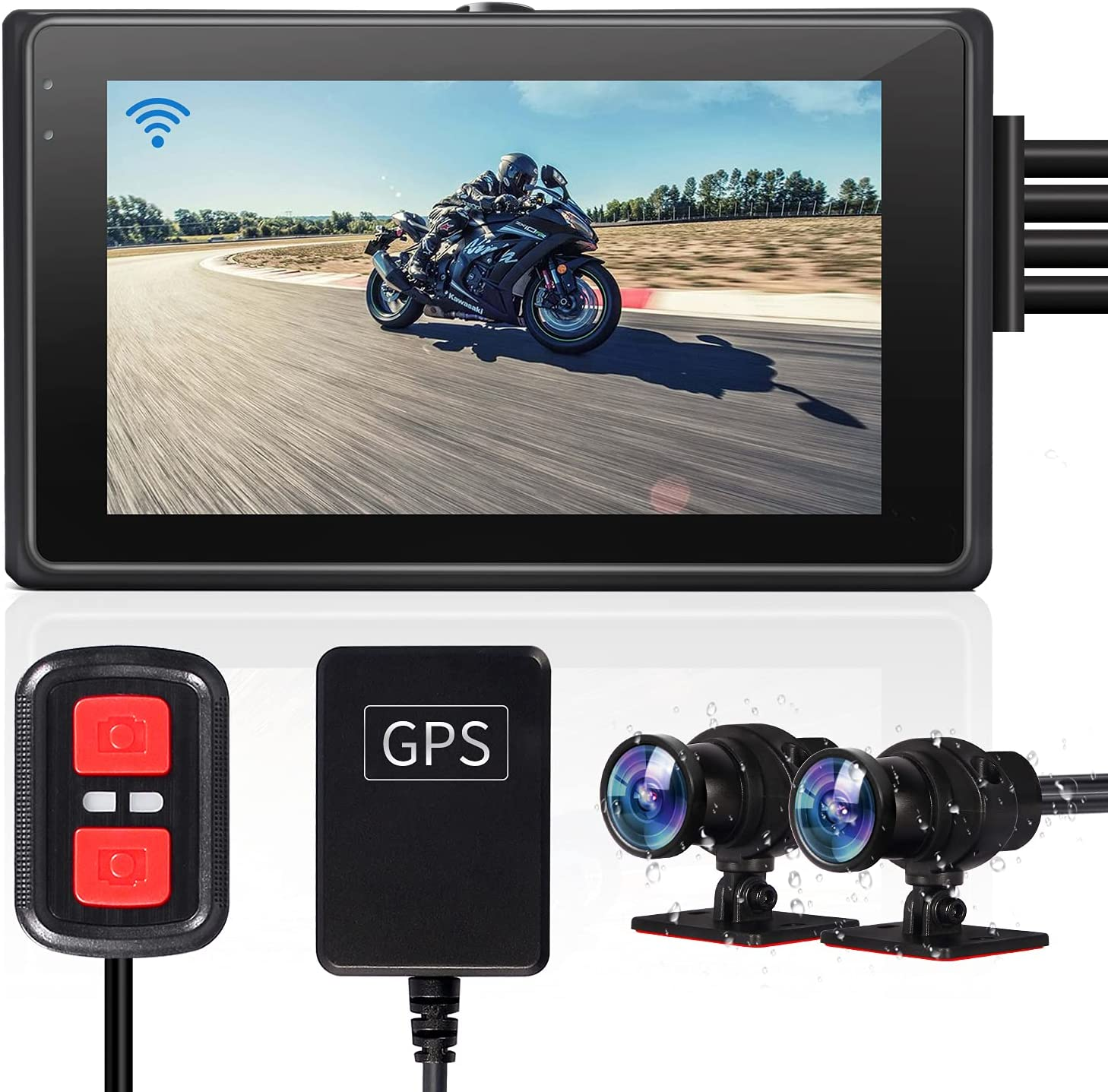VSYSTO Bargain sale Fish Eye Camera Motorcycle Recording 2 cam Dash Chan Dual Luxury goods