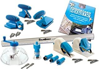 Logan Graphics Foamwerks Deluxe Cutting Kit for Foam Board for Creative Use In Art, Scrapbooking, Arcitecture, Modeling, Hobby and Craft Applications
