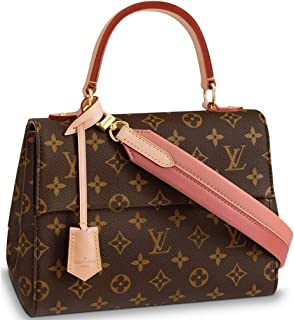 48c83c07a313 Louis Vuitton Monogram Canvas Cluny BB Top Handles Handbag Pink Article   M44267 Made in France
