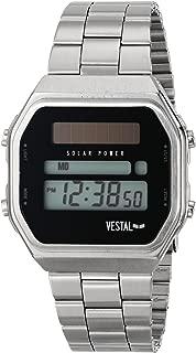 Vestal Men's SYNDM01 Syncratic Solar Power Digital Display Japanese Quartz Black Watch