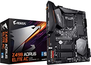 GIGABYTE Z490 AORUS Elite AC (Intel LGA1200/Z490/ATX/2xM.2 Thermal Guard/Realtek ALC1200/SATA 6Gb/s/USB 3.2 Gen 2/Intel 80...