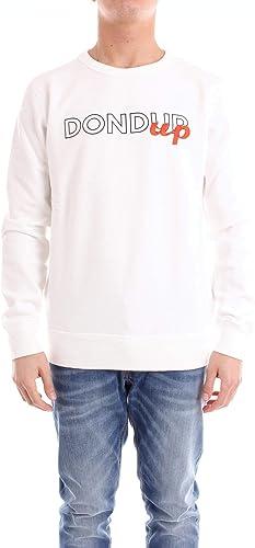 DONDUP Luxury mode Homme UF515KF0153UPUP000 Blanc Sweatshirt   Saison Outlet