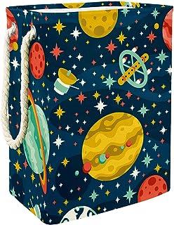 Vaisseau Spatial planète Sac de Rangement Panier de Rangement imperméable Pliable de Jouets de Jouets de Panier avec des p...