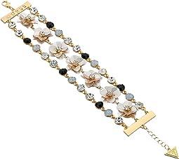 GUESS Floral Motif Line Bracelet