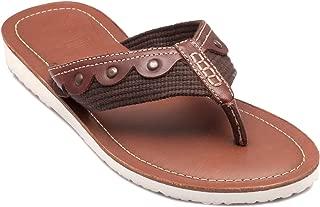 tZaro Genuine Leather Tan Slippers - Cloud