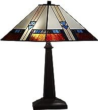 Amora Lighting AM243TL14B Tiffany Style Table Lamp, Multicolored