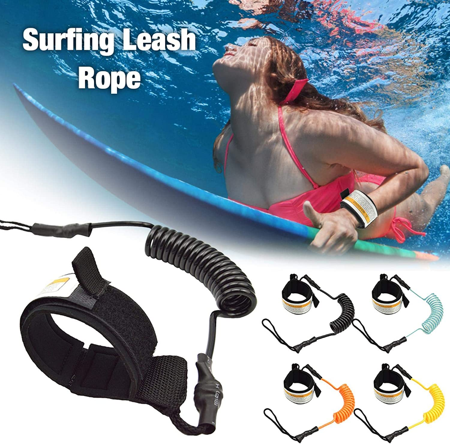 GoldCistern 1.6M Surfing Leash Rope,Surfboard Paddle Strap Kit Leash Wrist Ankle Safety Swivel Leash Child Anti-Lost Tool,Surfboard Leash Surf Wrist Leash Leg Rope