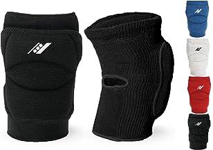 Rucanor Smash Kniebeschermer, Beschermers met Side Impact System, 2 stuks voor volleybal, basketbal en meer - M, Zwart