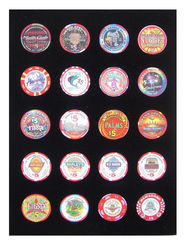 9 x 12 Black Insert - Holds 20 Casino Poker Chips (not included)