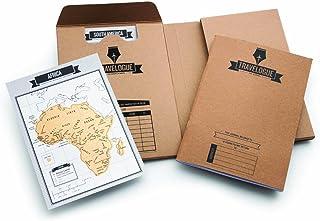 Original Travel Journal – Scratch Off World Map Diary – Beautiful Travel Décor - Scratch Poster Travelogue – Contains 8 Sc...