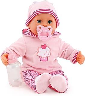Bayer Design- Muñeca bebé 38 cm, Las Primeras Palabras, con Chupete y botellín, Color Rosa (93816AA)