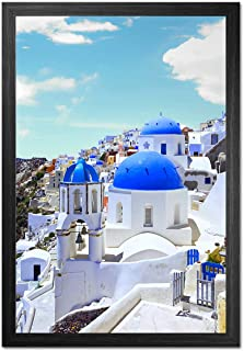 Emeyart 12x18 Frame Black Wood Picture Frames 12 x 18 Photo Frames Wall Mounting Poster Frames for Home Living Room and Of...