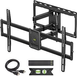 USX MOUNT Full Motion TV Wall Mount for Most 47-84 inch Flat Screen/LED/4K TVs, TV Mount Bracket Dual Swivel Articulating ...