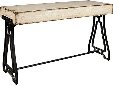 Signature Design by Ashley Vanport Urban Industrial Console Sofa Table, Cream