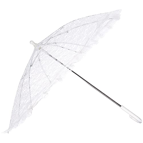 9fe3a2831 Firefly Imports PSEVELP001WH Homeford White Lace Parasol Umbrella for Bride,  26-Inch