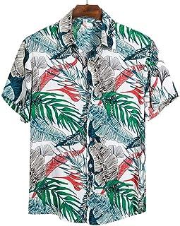 Camisa de Playa de Calidad Camisa Hawaiana Corta para Hombre Blusa Informal de Verano con Estampado Floral para Hombres Bl...