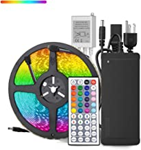 HOMELYLIFE 32.8ft RGB LED Strip Lights Super Bright Waterproof 600 LED SMD 5050 Tape Light Color Changing Full Kit with 44 Keys IR Remote Control+24V Power Supply LED Lighting for Party Kitchen Indoor