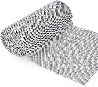 VITA PERFETTA 1 x Tapis de Tiroir de Cuisine Plastique Transparent Antidérapante (30 x 150 cm, Gris)