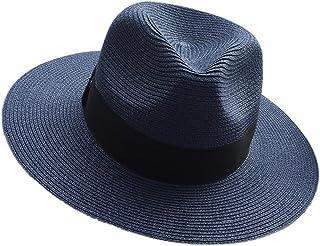 SCILLO(エスシーアイエルエルオ) 帽子 麦わら帽子 ストローハット ペーパーポケッタブルハット パナマ帽 中折れ ハット サイズ調節 折りたたみ可能 洗える帽子 リボン付き メンズ レディース