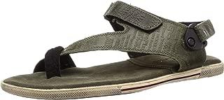 Woodland Men's Gd 1143112y15_Olive Green_10 Leather Outdoor Sandals-10 UK (44 EU) (11 US) 1143112Y15OLIVE