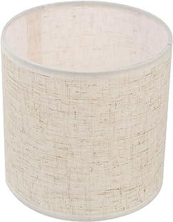 OSALADI Beige Lin Tissu Abat- Jour De Chevet Table de Chevet Abat- Jour Lustre Mur Lampe Bougie Ombre Clip sur Abat- Jour ...