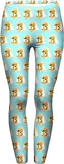 Turquoise Guinea Pig Print Yoga Pants Lounge Leggings by Piggies Choice