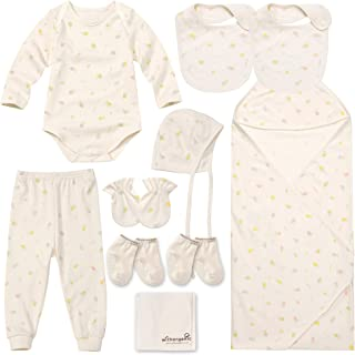 WithOrganic - Best Newborn Gift Set   100% Organic Certified Cotton   10 Pieces   for Baby Boy or Girl