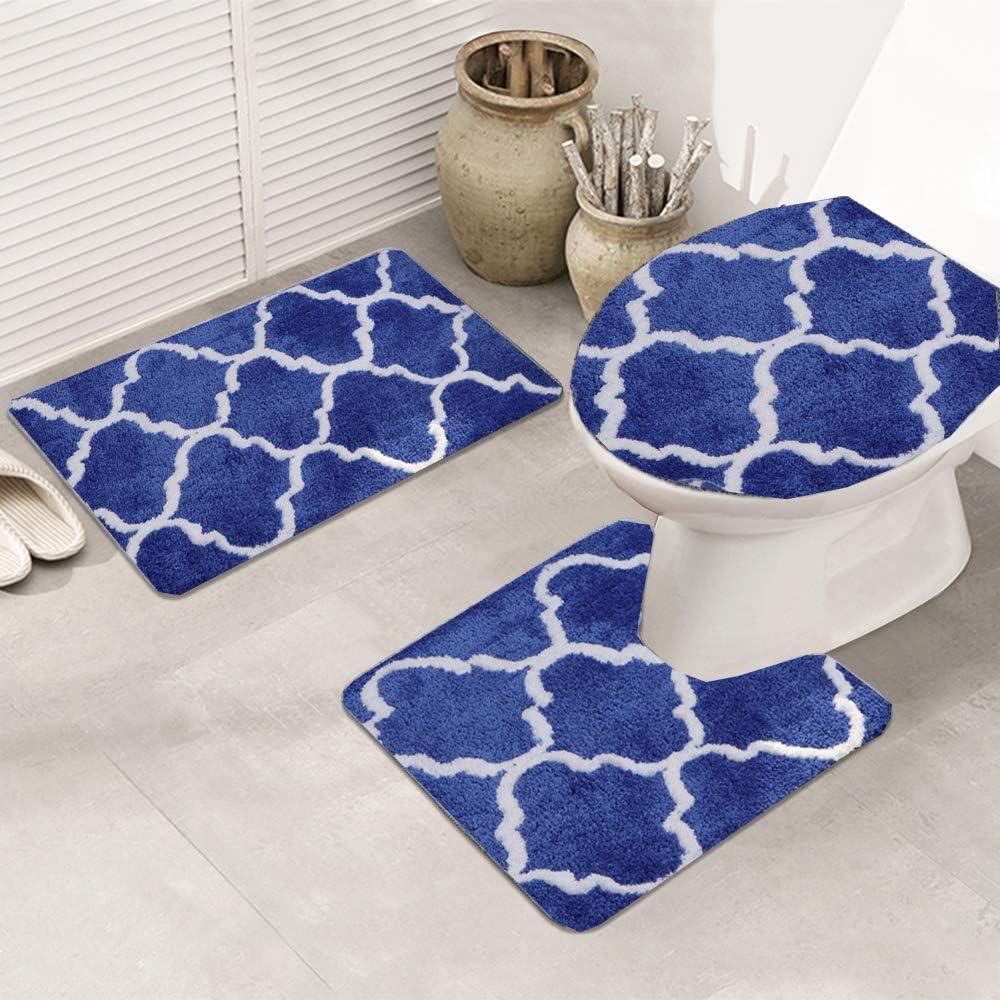 3 Pieces Bathroom Rugs Set Super beauty product restock quality top Microfiber Non Slip wholesale Sh