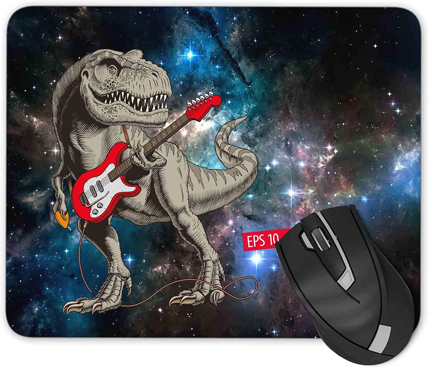 Dinosaur Playing The Guitar Gaming Time sale pad Mousepad Mouse Max 44% OFF