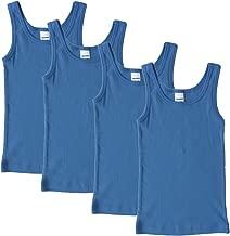 HERMKO 2800 4er Pack Jungen Unterhemd (Weitere Farben)