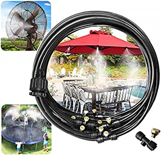 HDT Misting System Outdoor Cooling Kit for Greenhouse Garden Patio Waterring Irrigation Mister Line 10M System