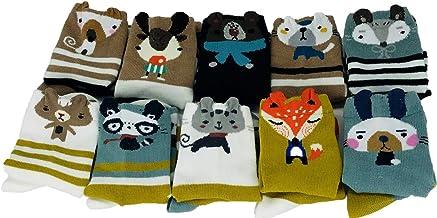 POWER YANNIK Toddler Boys` Girls` 10-Pack Organic Cotton Crew Sock