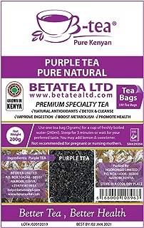 Purple Tea | Gentle Detox & Cleanse | 100% Natural | Healthy Specialty Tea | Improve Digestion & Metabolism | Reduce Bloating | Tea Bags (100ct)
