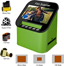 $149 » Film Scanner with 22MP High Resolution Slide Scanner Converts 35mm, 110 & 126 and Super 8 Films, Slides and Negatives to JPEG Includes 4.3 Inch TFT LCD Display