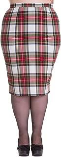 Plus London Rock Rockabilly Office Lady Tartan Pencil Wiggle Skirt