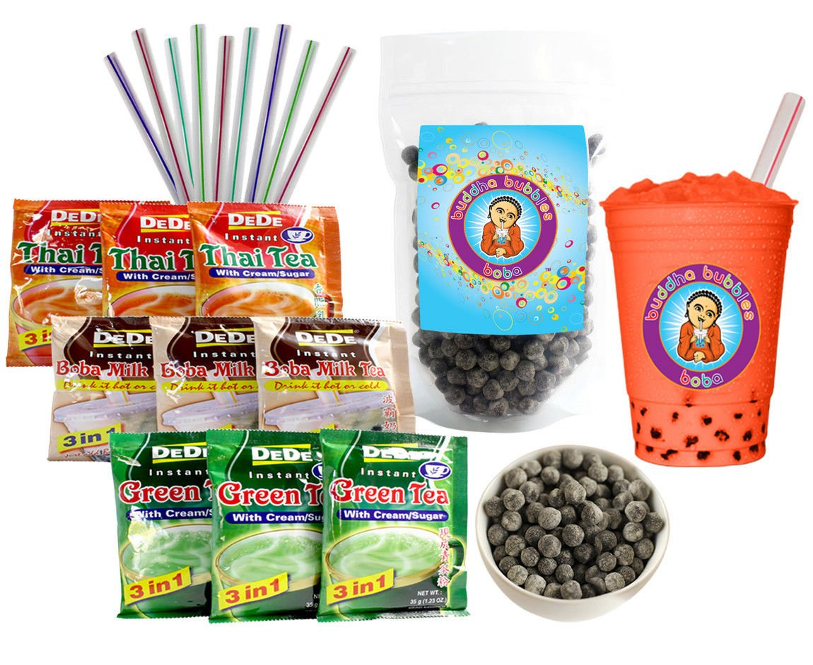 DeDe Instant Boba Tea Kit 9 Thai 100% quality warranty Max 67% OFF M Drink Straws Packets