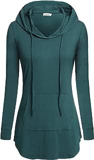 BEPEI Women Tunic Hoodies Long Sleeves Pocket Crewneck Dressy Shirts