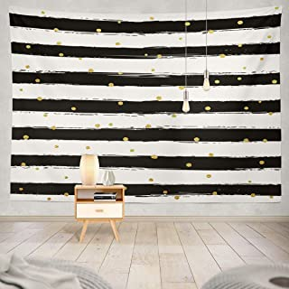 Best black white and gold fabric Reviews