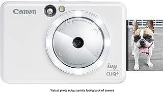 Canon IVY CLIQ+ Instant Camera Printer, Mobile Mini Photo Printer Via Bluetooth(R), Pearl White