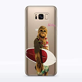 MODO Chewbacca Surfing R2D2 BB8 Stormtrooper TShirt Case for Samsung Galaxy S10 S10 Plus S10e S8 S8 Plus S6 S7 S6 Edge Note 4 Note 5, Chewbacca Mask Stuffed Animal Cute Backpack Tee Shirt, MA1308