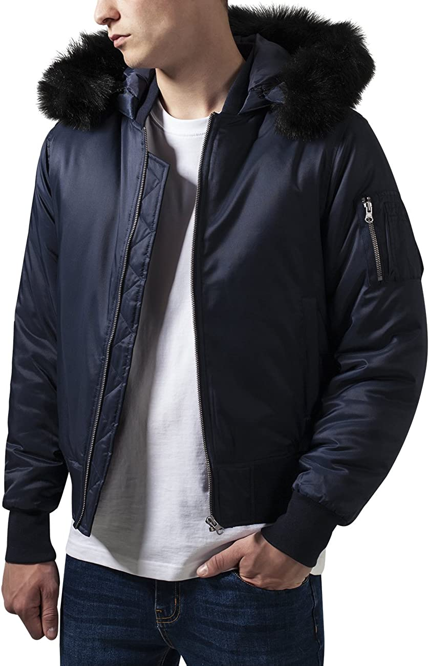 Urban Classics - Hooded Cheap mail order specialty store Bomber Jacket Inventory cleanup selling sale Pilot Winter Aviation