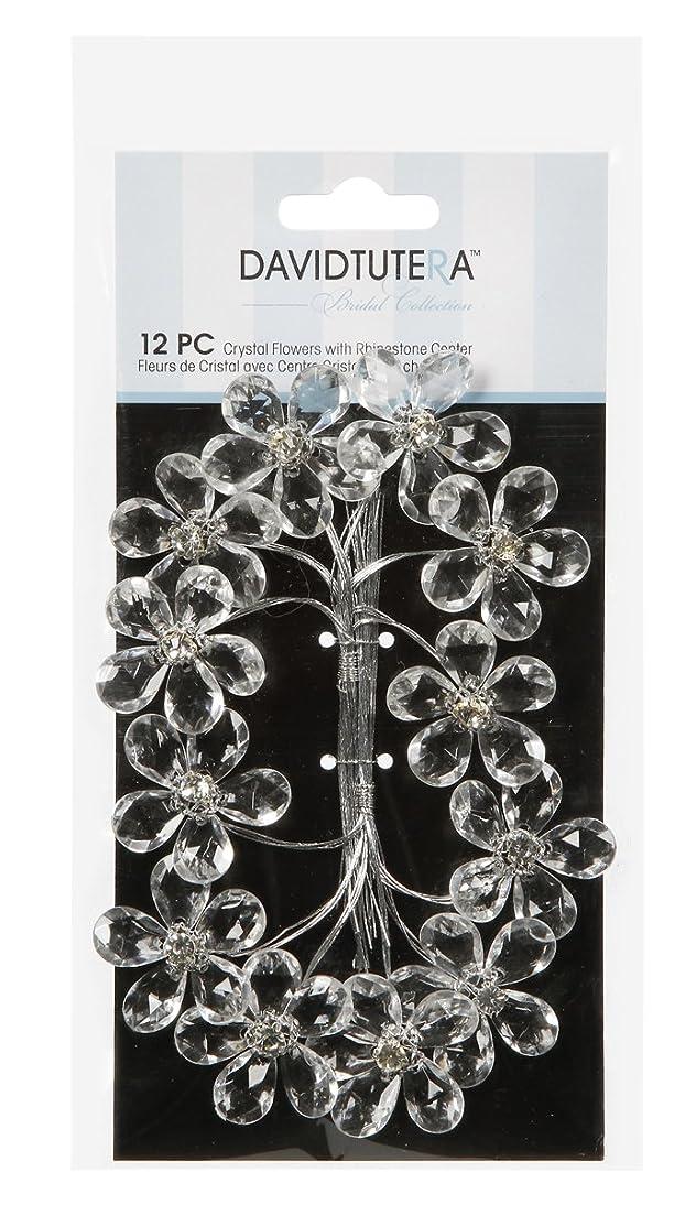 Darice DT812 David Tutera Flower Picks - Crystal Rhinestone Flowers - 12 pieces