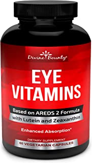 AREDS 2 Eye Vitamins with Lutein and Zeaxanthin Supplements - Clinically Proven Ingredients - Supports Macular Degeneratio...