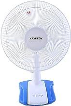 Krypton Table Fan, 16 Inch, Blue/White