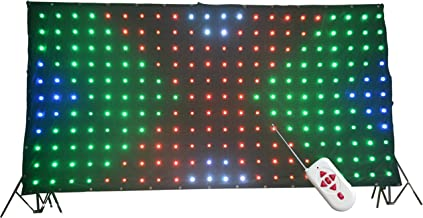 KHXED LED Vision Curtain P18 2x4M Remote control DMX512 for Mobile DJ Band night club stage backdrop